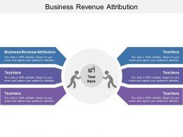 Business Revenue Attribution Ppt Powerpoint Presentation File Graphics Tutorials Cpb