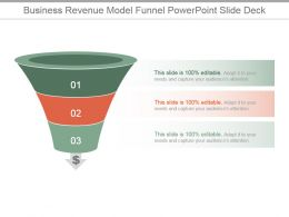 Business Revenue Model Funnel Powerpoint Slide Deck