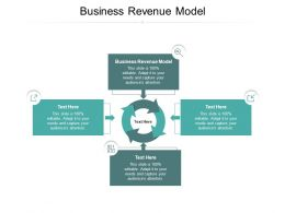 Business Revenue Model Ppt Powerpoint Presentation Icon Vector Cpb