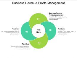 Business Revenue Profits Management Ppt Powerpoint Presentation Ideas Samples Cpb