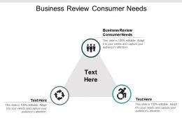 Business Review Consumer Needs Ppt Powerpoint Presentation Show Samples Cpb
