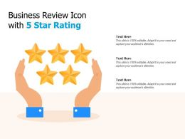 Business Review Icon With 5 Star Rating