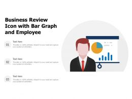 Business Review Icon With Bar Graph And Employee
