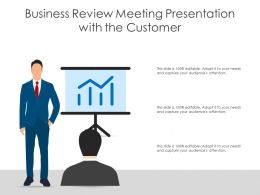Business Review Meeting Presentation With The Customer