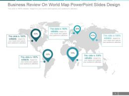 Business Review On World Map Powerpoint Slides Design