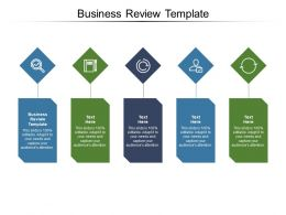 Business Review Template Ppt Powerpoint Presentation Summary Design Templates Cpb