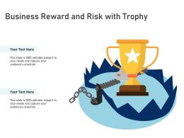 Business Reward And Risk With Trophy