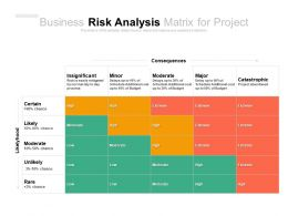 Business Risk Analysis Matrix For Project