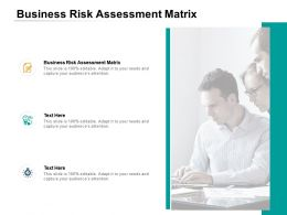 Business Risk Assessment Matrix Ppt Powerpoint Presentation Ideas Example Cpb
