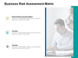 Business Risk Assessment Matrix Ppt Powerpoint Presentation Show Diagrams Cpb