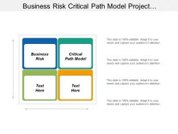 Business Risk Critical Path Model Project Management Approaches Cpb