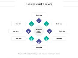 Business Risk Factors Ppt Powerpoint Presentation Styles Graphic Tips Cpb