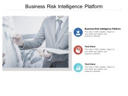 Business Risk Intelligence Platform Ppt Powerpoint Presentation Layouts Show Cpb
