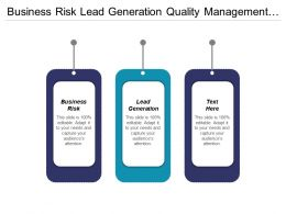 Business Risk Lead Generation Quality Management Business Management Cpb