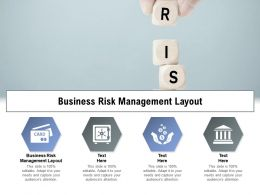 Business Risk Management Layout Ppt Powerpoint Presentation Summary Graphics Cpb