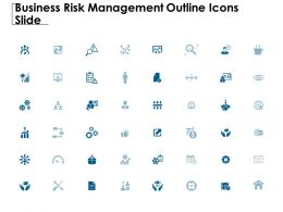 Business Risk Management Outline Icons Slide Checklist Measure C836 Ppt Powerpoint Presentation File Pictures
