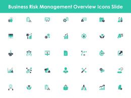 Business Risk Management Overview Icons Slide Growth Management C845 Ppt Powerpoint Presentation
