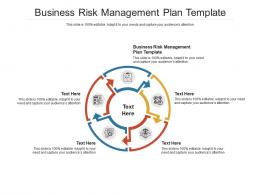 Business Risk Management Plan Template Ppt PowerPoint Presentation Show Cpb