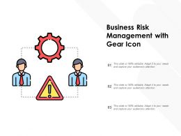 Business Risk Management With Gear Icon