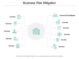 Business Risk Mitigation Ppt Powerpoint Presentation Summary Gallery Cpb