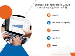 Business Risk Related To Cloud Computing Option 1 Of 2 Cloud Computing Ppt Formats