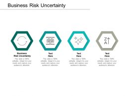 Business Risk Uncertainty Ppt Powerpoint Presentation Outline Smartart Cpb