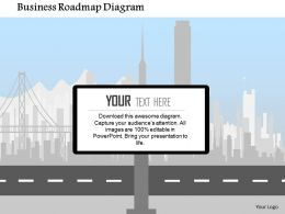 Business Roadmap Diagram Flat Powerpoint Design
