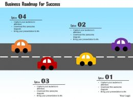 Business Roadmap For Success Flat Powerpoint Design