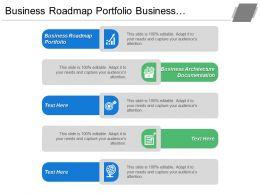 Business Roadmap Portfolio Business Architecture Documentation