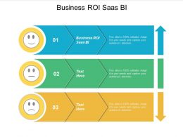 Business ROI Saas BI Ppt Powerpoint Presentation Ideas Show Cpb