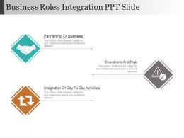 Business Roles Integration Ppt Slide