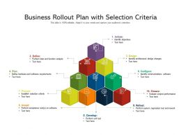 Business Rollout Plan With Selection Criteria
