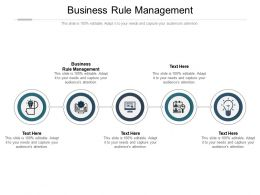 Business Rule Management Ppt Powerpoint Presentation Gallery Vector Cpb