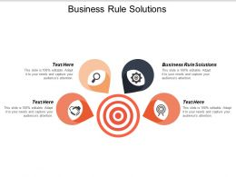 Business Rule Solutions Ppt Powerpoint Presentation Styles Background Cpb