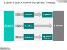 Business Sales Channels Powerpoint Template