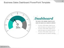 Business Sales Dashboard Powerpoint Template