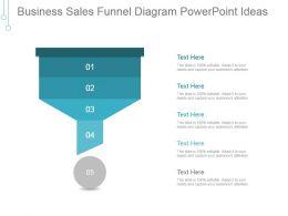 Business Sales Funnel Diagram Powerpoint Ideas