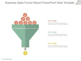 Business Sales Funnel Report Powerpoint Slide Template
