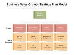 Business Sales Growth Strategy Plan Model