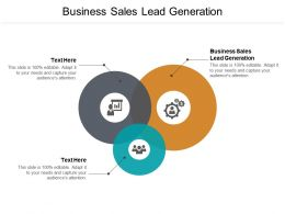 Business Sales Lead Generation Ppt Powerpoint Presentation Model Tips Cpb