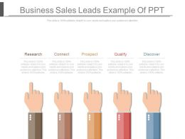Business Sales Leads Example Of Ppt