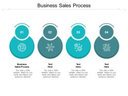 Business Sales Process Ppt Powerpoint Presentation Slides Graphics Design Cpb