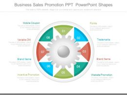 Business Sales Promotion Ppt Powerpoint Shapes