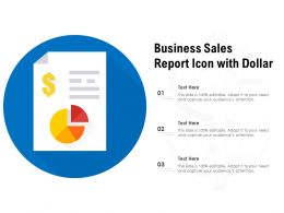 Business Sales Report Icon With Dollar