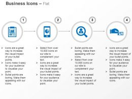 Business Sales Report Mobile Apps Search Deal Ppt Icons Graphics