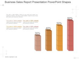 Business Sales Report Presentation Powerpoint Shapes