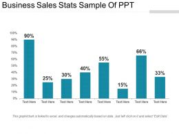 Business Sales Stats Sample Of Ppt