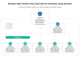 Business Sales Territory Plan Org Chart For Generate Leads Business Infographic Template