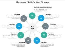 Business Satisfaction Survey Ppt Powerpoint Presentation Icon Show Cpb