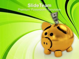 Business Savings In Piggy Bank Powerpoint Templates Ppt Themes And Graphics